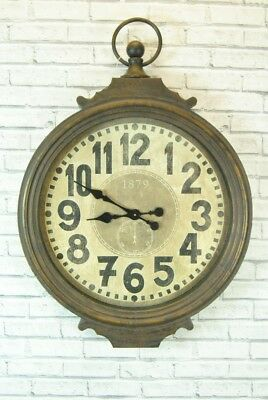 Wall Clock Xtra Large Vintage Style Iron Retro Wall Stop Watch Design Clock