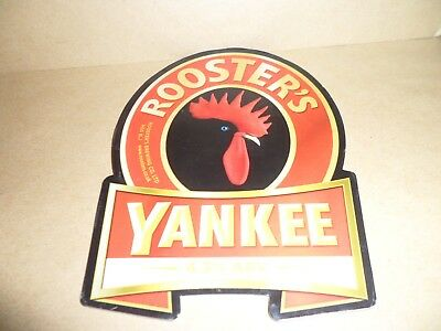 ROOSTERS YANKEE  Ale Beer Pump Clip Pub Bar Collectible man cave