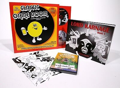 Classic Game Room Laser Hyper Vision Blu-Ray Set, DVD and Lord Karnage Bundle