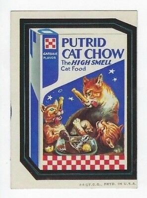 1973 Topps Wacky Packages 2nd Series 2 PUTRID CAT CHOW wb nm- o/c