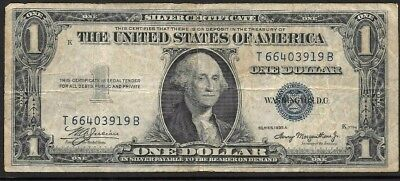 1935 USA $1 bank note Silver Certificate,  in used condition
