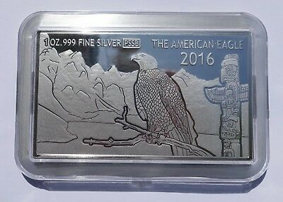 2016 Fiji $1 American Eagle Unique 3D Coin 1 Oz Silver 999 Proof Coin Bar Dollar