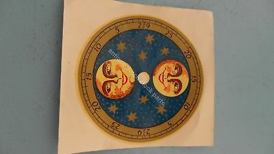 Replacement Moon Disc Decal For Dutch Wall Clock Schippertje Friese Staart