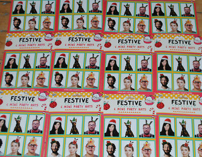 Bulk Buy Job Lot Xmas Christmas Mini Festive Hats 12 Packets 72 x Party Hat