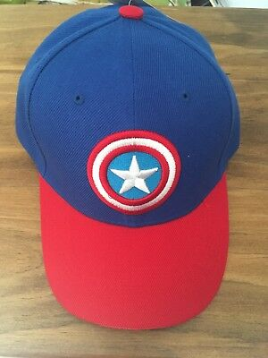 9c4803e2868 HAT CAP LICENSED Marvel Comics Captain America Shield Curved Bill ...