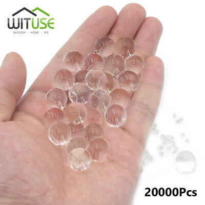 20000pcs Home/Shop Decor Pearl Shaped Crystal Soil Water Beads Clear Balls 7B11
