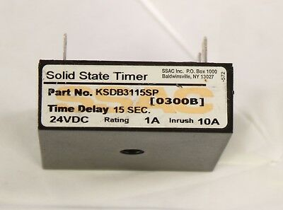 KSD83115SP SSAC Inc. Solid State Timer 15 Sec. Time Delay