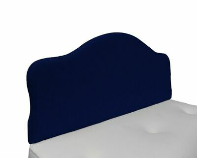Dallas Modern Linen Upholstered Headboard with Curved Sides in Various Colours