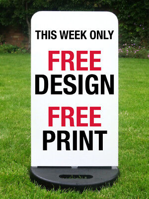 Pavement Sign Shop Sign A Board Sandwich Board Free Standing Sign *printed Free*