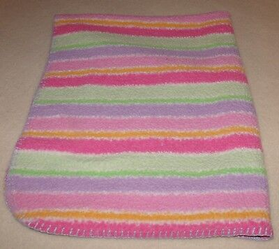 baby connection girls colorful stripes baby blanket pink purple green yellow