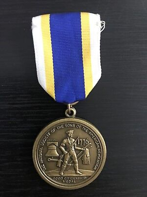 National Society Eagle Scout Sons Of The American Revolution Award Medal