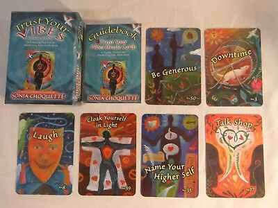 Trust Your Vibes Oracle Cards:  Sonia Choquette ~ 52 Cards + Guidebook 6th Sense