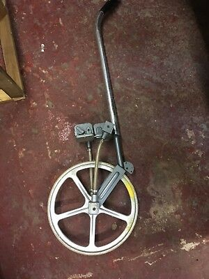 VINTAGE TRUMETER Road Measuring Trundle Wheel folding Metres And Feet