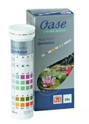 Oase AquaActiv Quick Test Water Test Strip for Pond Koi Water Gardens 6 in 1