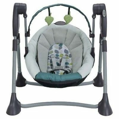 Graco Swing By Me Boden Collection Portable 2-in-1 Swing Foldable