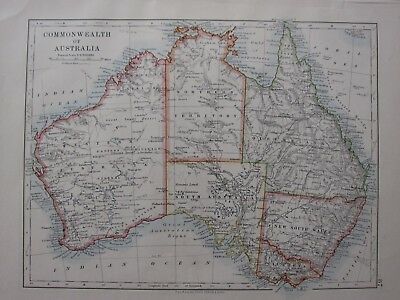 1904 Map ~ Commonwealth Of Australia New South Wales Victoria Queensland