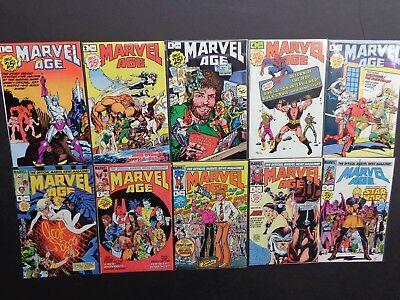Marvel Age #1,2,3,4,5,6,7,8,9,10  NM 1983 Lot of 10 High Grade