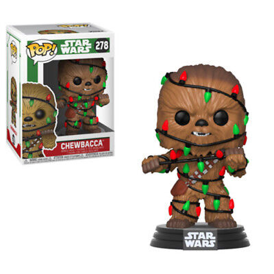 Holiday - Chewie W/Lights - Funko Pop! Star Wars: (2018, Toy NUEVO)