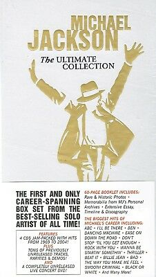 Michael Jackson: The Ultimate Collection 5 Disc Set 4 CDS 1 DVD  Fast Shipping