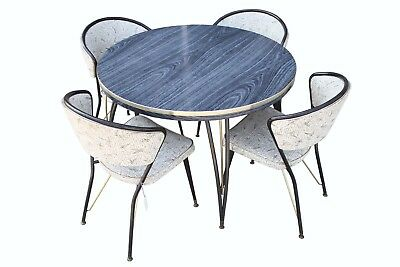 1950s Retro Atomic Era Dinning Room Set With 4 Chairs Boomerang Chairs