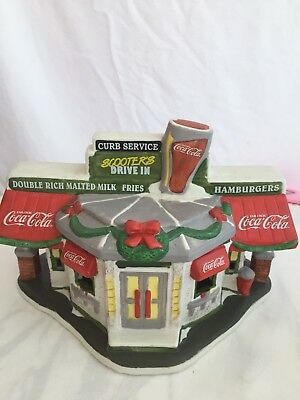 Coca-Cola Lightrd Town Square Collection 1996 NIB CHRISTMAS Village