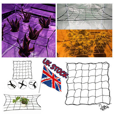 UK 2* Plant Support Scrog Net Mesh Grow Tent Nets Hydroponic 80*80 cm 36/49 Grid