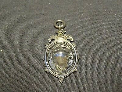 Antique Solid Sterling Silver Pocket Watch Fob/Medal - Chester 1916 - 10.8g