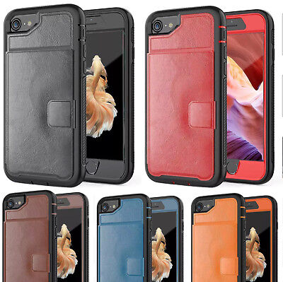 Wallet Leather Card Slot ID Card Holder Case For iPhone 8 Plus, 7 Plus, Xs, 6s
