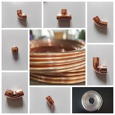6Mm/8Mm/10Mm Copper End Feed Fittings/plumbing Fittings/ Yorkshire Copper Pipe