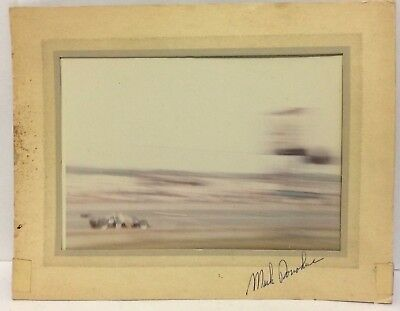 **Signed** Mark Donohue Photograph & Card 1971 Trenton 300 Indy Race HTF