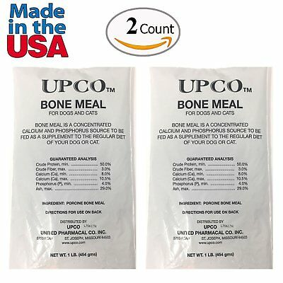 Bone Meal Steamed Powder for Dogs and Cats 2 Pack Total 2 Pounds from Upco...