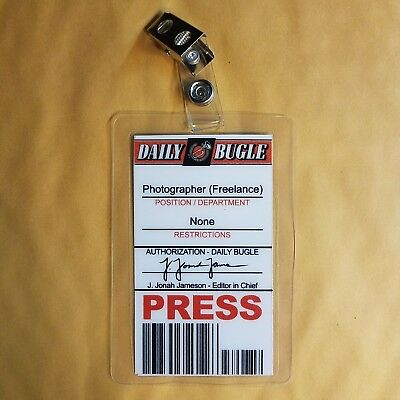 Spiderman ID Badge-Daily Bugle Photographer Press Pass cosplay prop costume