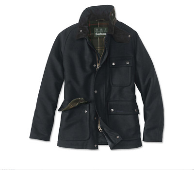NEW Barbour Huntroyde Wool Coat in Navy SOLD OUT size L retails for $500  note: