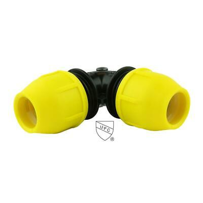 HOME-FLEX 1 in. Underground Yellow Poly Gas Pipe 90 Degree Elbow 18-406-010