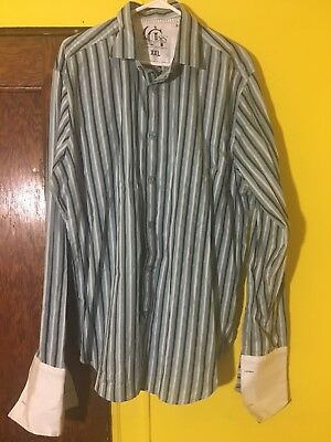 Guess Button Down Men's Shirt Size Sz XXL Slim Fit Casual Dress Shirt Vintage