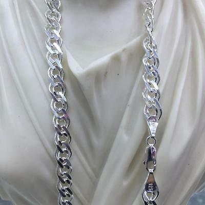 """24/"""" .925 Sterling Silver 5.40mm Beveled Oval Cable Link Chain Necklace 18/"""""""