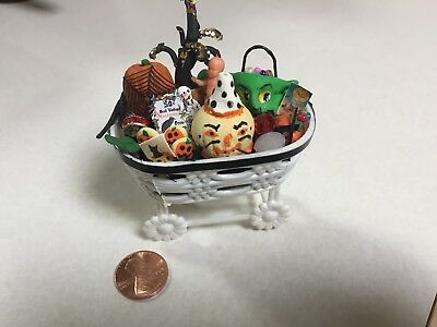 Miniature Dollhouse Vintage Halloween Bassinett