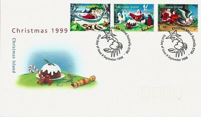 1999 Christmas Island - Christmas First Day Cover FDI