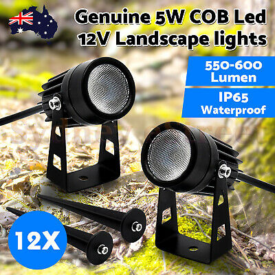 10X 12V LED waterproof Outdoor Garden Spotlights landscape light Lamp Yard Flood