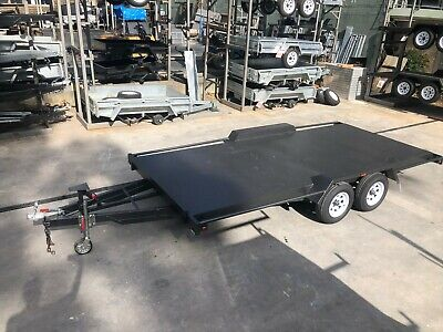 16x6'6 TANDEM AXLE CAR TRAILER | 2800kg GVM | H/DUTY | 7ft LONG RAMPS