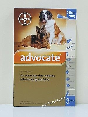 12 Pack Advocate for Dog 25-40 kg Large Dogs
