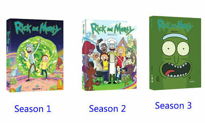 Rick and & Morty Complete TV Series All Seasons 1-3 DVD Set Collection Episodes