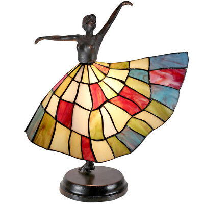 NEW Art Deco Skirted Dancer Tiffany Style Accent Lamp - Tiffany Emporium,Lamps