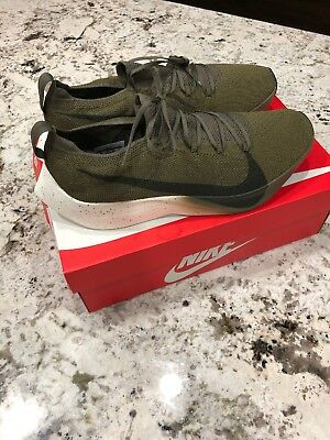 9c0bc4829bfe Nike Vapor Street Flyknit Medium Olive Sequoia Mens Sz 12 New W  Box AQ1763