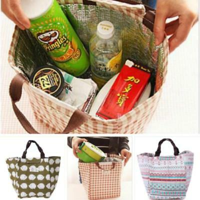 Portable Insulated Thermal Cooler Bento Lunch Box Tote Picnic Storage Bag MS