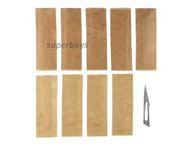 10pcs No. 11 Non Sterile Carbon Steel Scalpel Blade For Carving Clay Wax Craft