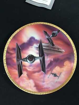 Star Wars Hamilton Collection Space Vehicles Plate Tie Fighters