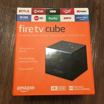 BRAND NEW Amazon Fire TV Cube with Alexa Voice Remote 4K Ultra HD Streaming