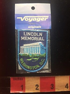 Vtg Voyager LINCOLN MEMORIAL USA Capital City WASHINGTON D.C. Patch 83V9
