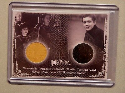 Harry Potter-Daniel Radcliffe-Sean Biggerstaff-MM2-Authentic-Double-Costume Card